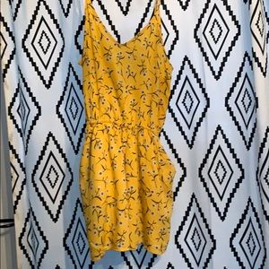 H&M Yellow Romper with Pockets